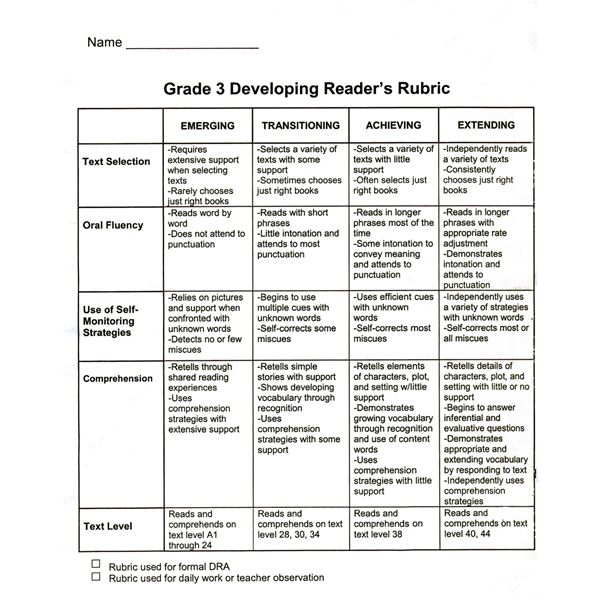 Grading rubric for edu 313 n