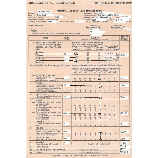 Printables Hvac Load Calculation Worksheet example of residential heat load estimate calculations sample calculations