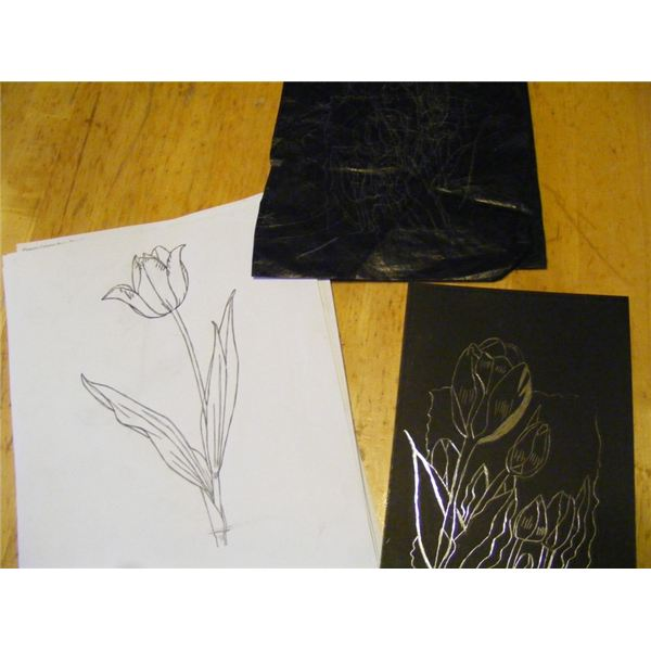 this creative scratch art lesson plan is a perfect art
