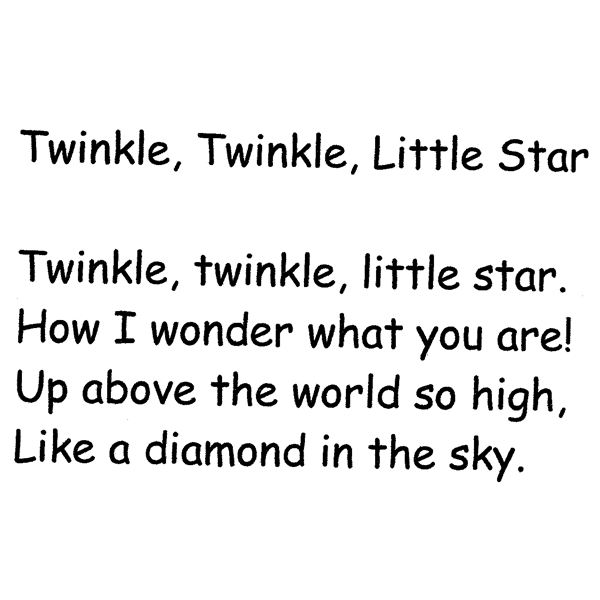 Printables Example Of Rhyming Words In Sentence twinkle little star lesson plan to teach rhyming words book images courtesy of amazon com