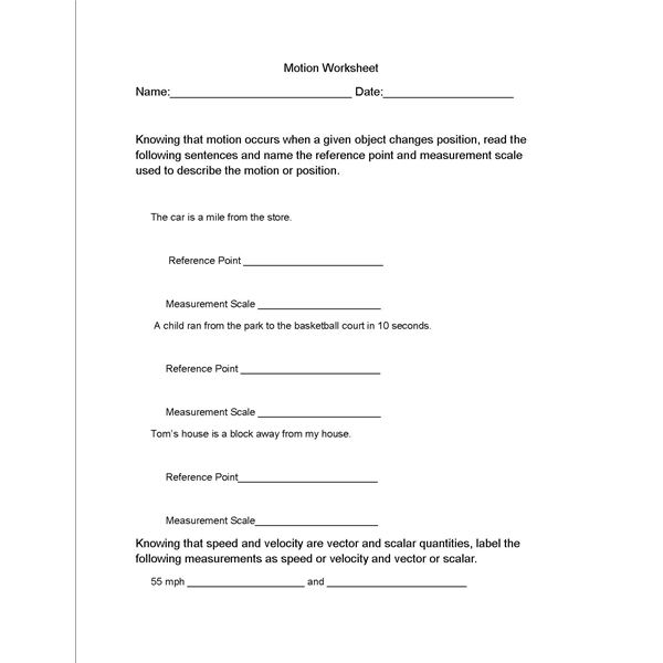 Motion And Speed Worksheet Free Worksheets Library – Speed Worksheet