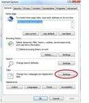 Internet Options Tab Settings