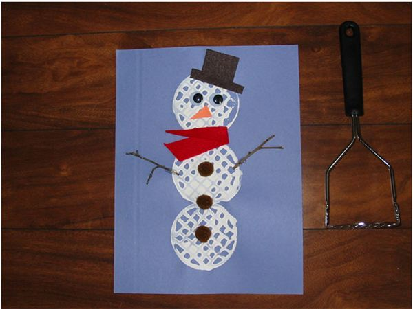 Potato Masher Snowman