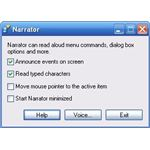 Microsoft Narrator settings