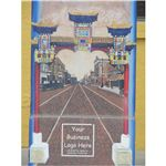 Mural on a Postal Box of Chinatown Street
