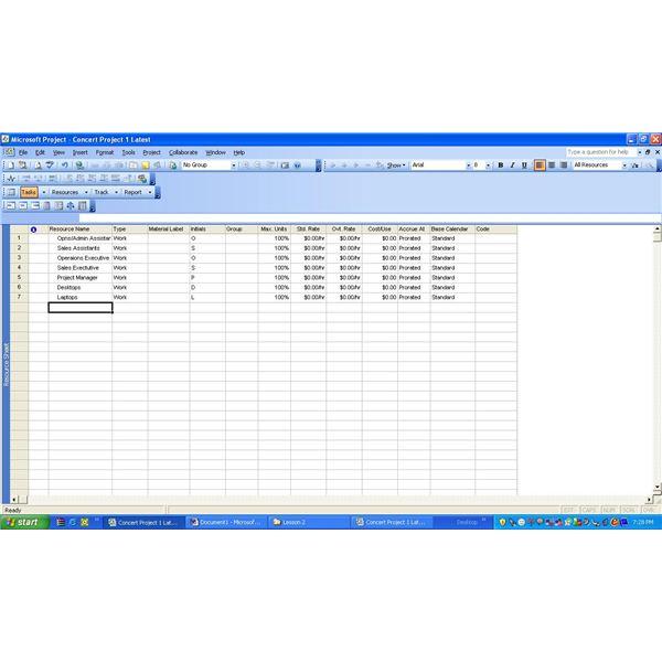 microsoft project how to add resources