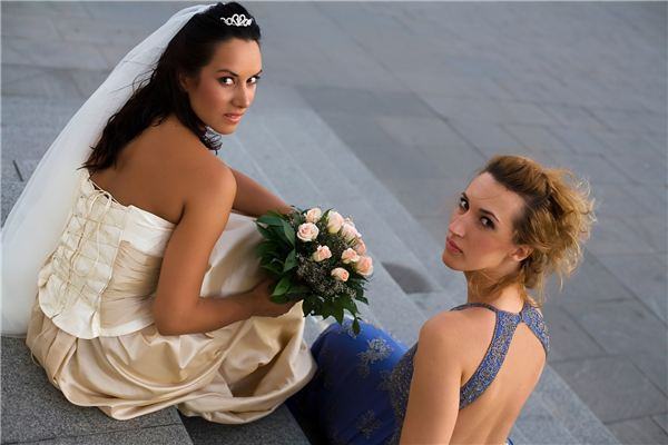 Bride with Her Bridesmaid
