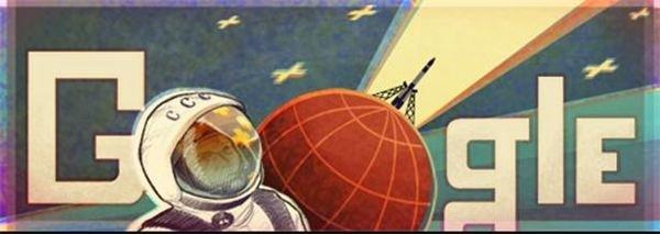 2. Yuri Gagarin Google Doodle