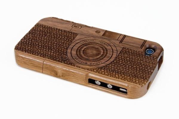 Wooden Old-School Camera Case