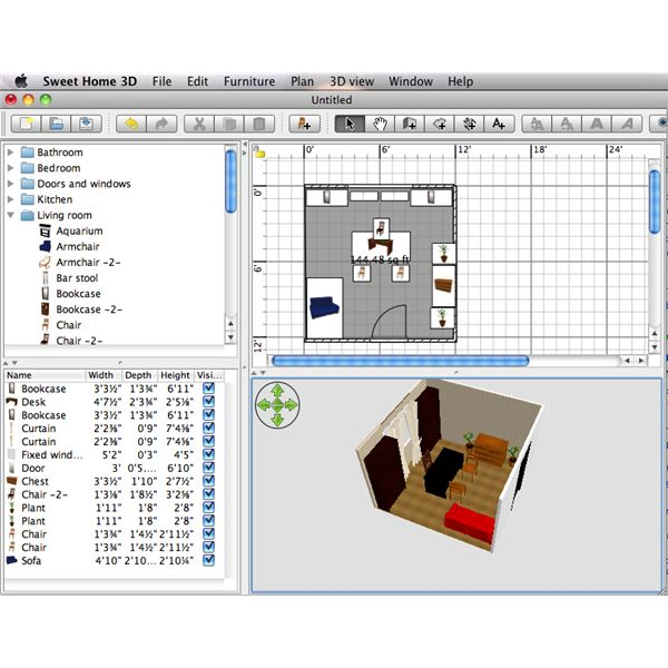 Sweet Home 3d Is A Free Interior Design Software Which Can Be Downloaded Or Can Be Used Directly Online It Can Be Used In Different Operating Systems Like
