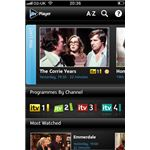ITV Player app menu
