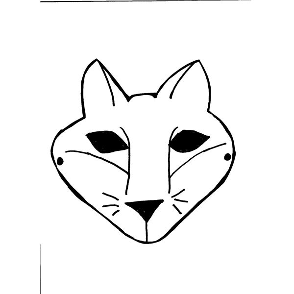template of a fox - fox mask template