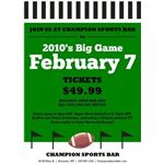 Must Have Menus - The big Game Flyer