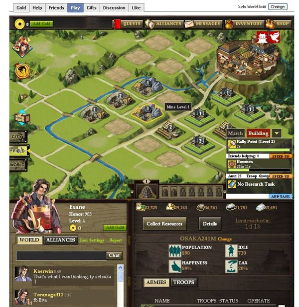 samurai browsergame