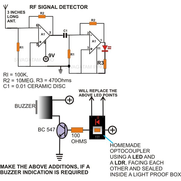 ghost detection equipment  learn to build your own rf detector, circuit diagram
