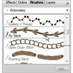Select an Edge on Brushes Tab