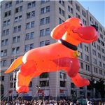Clifford the Big Red Dog parade float