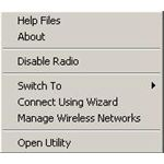 Dell Radio Context Menu Option