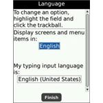 Blackberry Language Setup