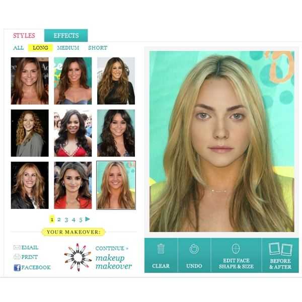 top virtual hair style sites