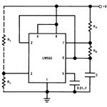 IC 555 Astable Mode Circuit Diagram, Image