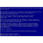 The MS blue screen error in Windows XP