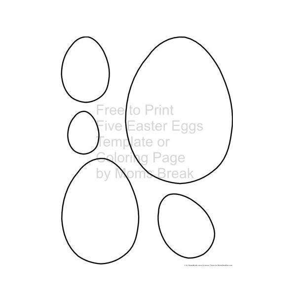 Fun easter egg templates for dtp projects available from for Small easter egg template