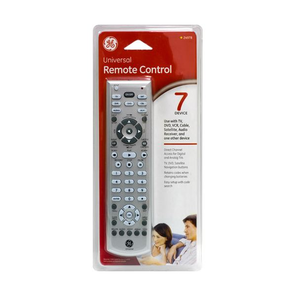 GE universal remote controls - code entering instructions