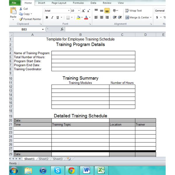 Employee training plan excel template excel training for Team training plan template