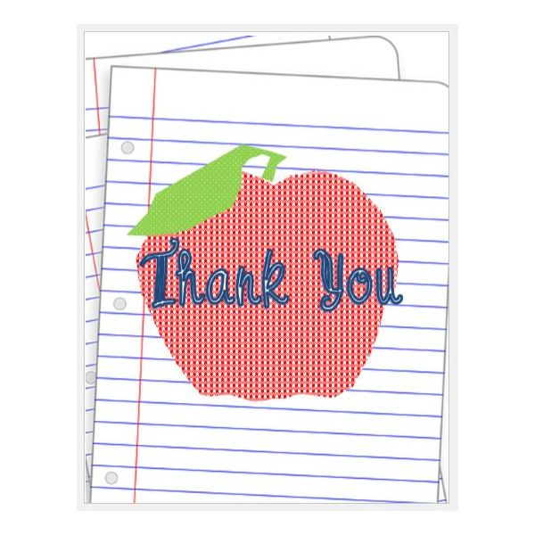 Teacher Thank You  Microsoft Thank You Card Template