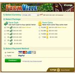 FarmVille Cash Purchase Screen