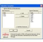 Extension exception configuration