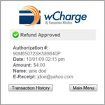 wCharge Credit Card Terminal