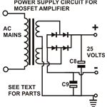 Power Supply for MOSFET Amplifier Circuit, Diagram, Image