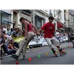 Roller-skating-slalom-duo Wikimedia Commons