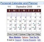Google gadget for a internet calendar
