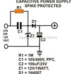 Transformerless Power Supply, Spike Protected Circuit Design, Image