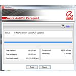 Avira AntiVir Finished to Installing the Manual Update