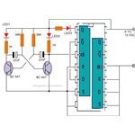 Bistable Multivibrator Circuit Diagram Using IC 4013, Image