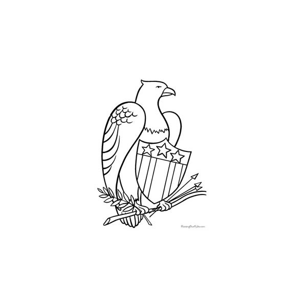 Patriotic Symbols Coloring Pages Raising Our Kids