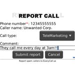 Call Control Report Call