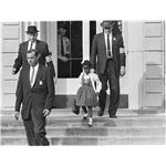 US Marshals with Young Ruby Bridges on School Steps
