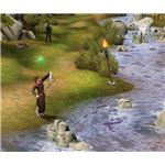 The Sims Medieval fishing along stream