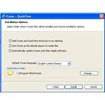 Install Options of iTunes Software