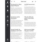 Instapaper's new iPad grid layout.