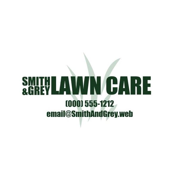 blank lawn care logos. simple green and white card blank lawn care logos s