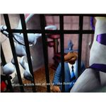 Sam and Max: The Penal Zone Walkthrough - Sam and Max behind bars during the tutorial.