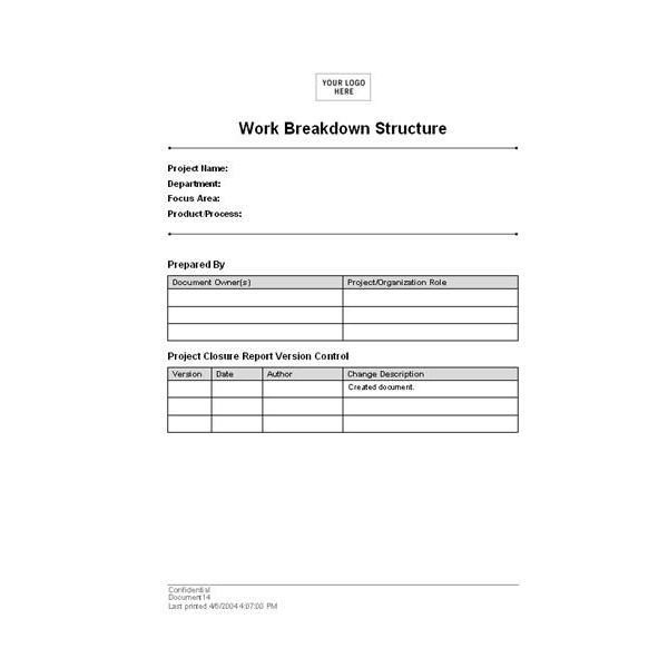 Where to Find the Best Work Breakdown Structure Templates – Work Breakdown Structure Template