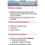 Writing for iPhone iPhone App