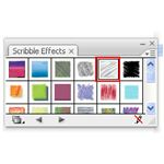 Adobe Illustrator CS3 Menus - black and gray scribble arrows menu - scribble box